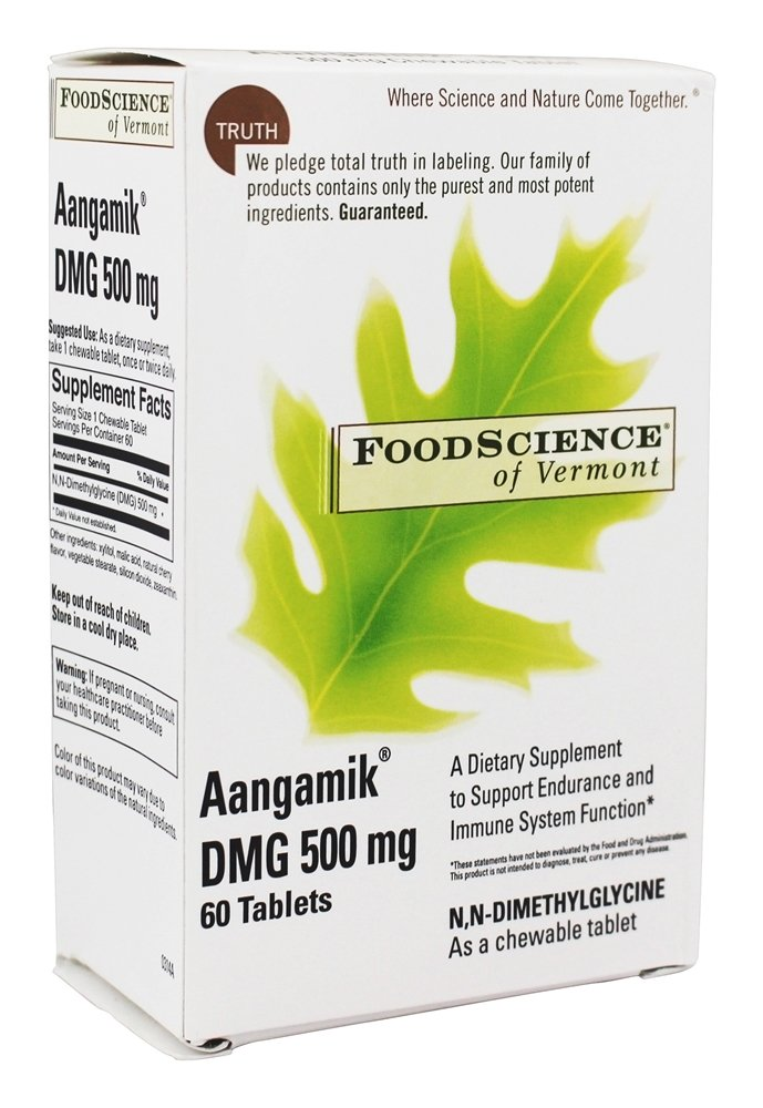 FoodScience of Vermont - Aangamik DMG 500 mg. - 60 Chewable Tablets