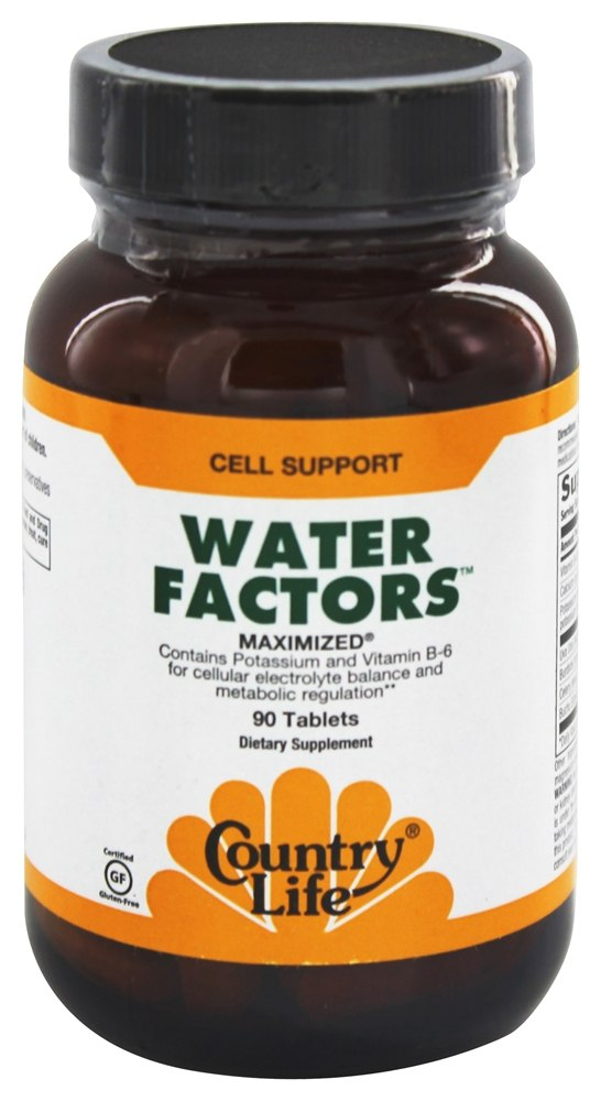 Country Life - Water Factors Maximized - 90 Tablets Formerly Diuretic Factors