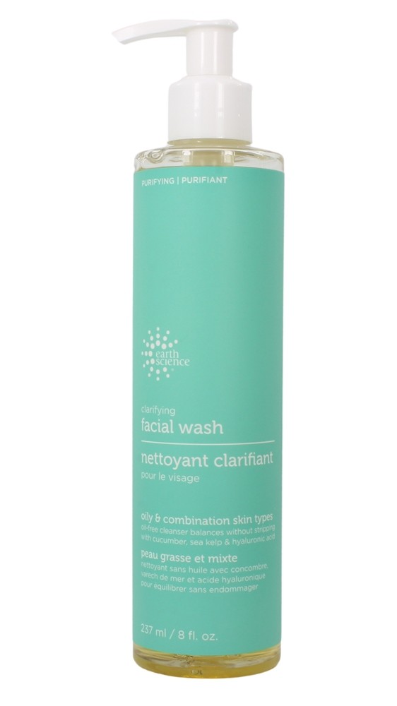 Earth Science - Clarifying Facial Wash For Oily & Combination Skin - 8 oz.