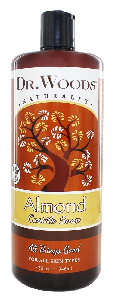 Dr. Woods - All Natural Eco-Friendly Castile Soap Pure Almond - 32 oz.