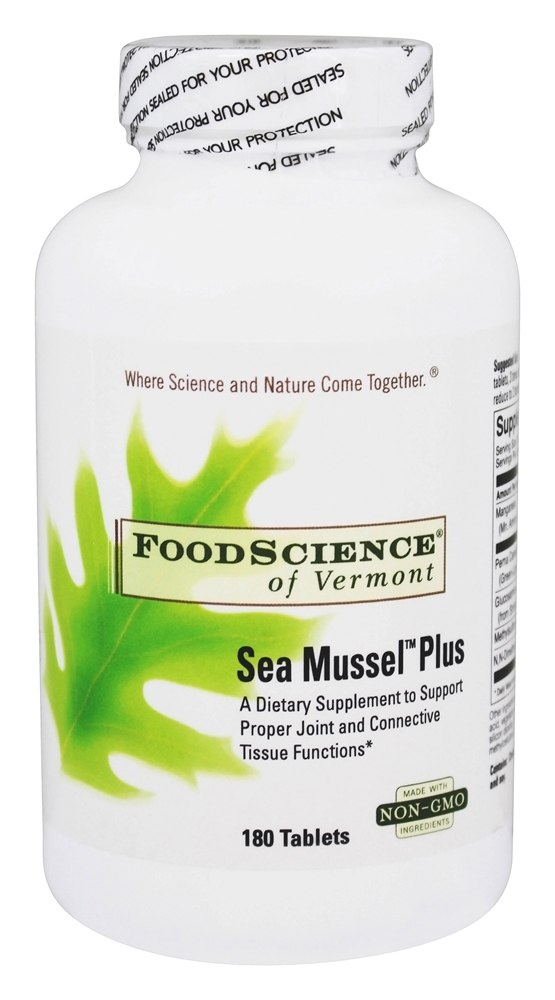 FoodScience of Vermont - Sea Mussel Plus - 180 Tablets