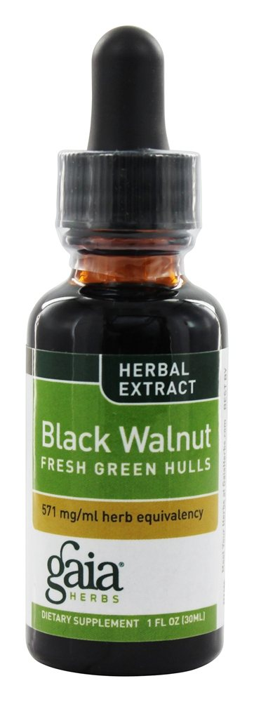 Gaia Herbs - Black Walnut Fresh Green Hulls - 1 oz.