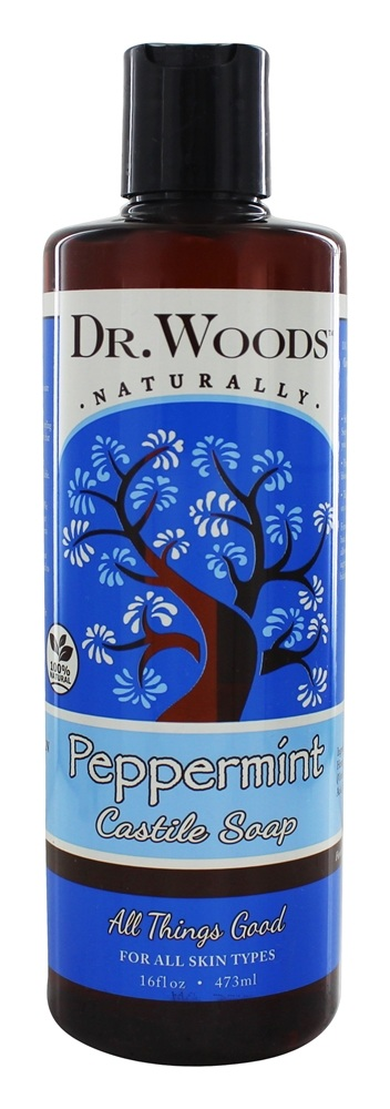 Dr. Woods - All Natural Eco-Friendly Castile Soap Pure Peppermint - 16 oz.