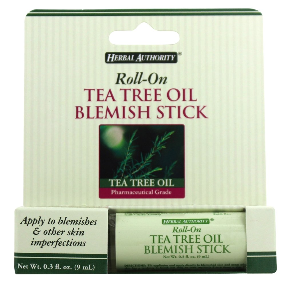 Herbal Authority - Roll-On Blemish Stick with Tea Tree Oil - 0.3 oz. Formerly Called Good 'N Natural