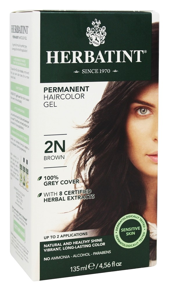 Herbatint - Herbal Haircolor Permanent Gel 2N Brown - 4.5 oz.