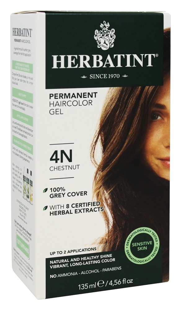Herbatint - Herbal Haircolor Permanent Gel 4N Chestnut - 4.5 oz.