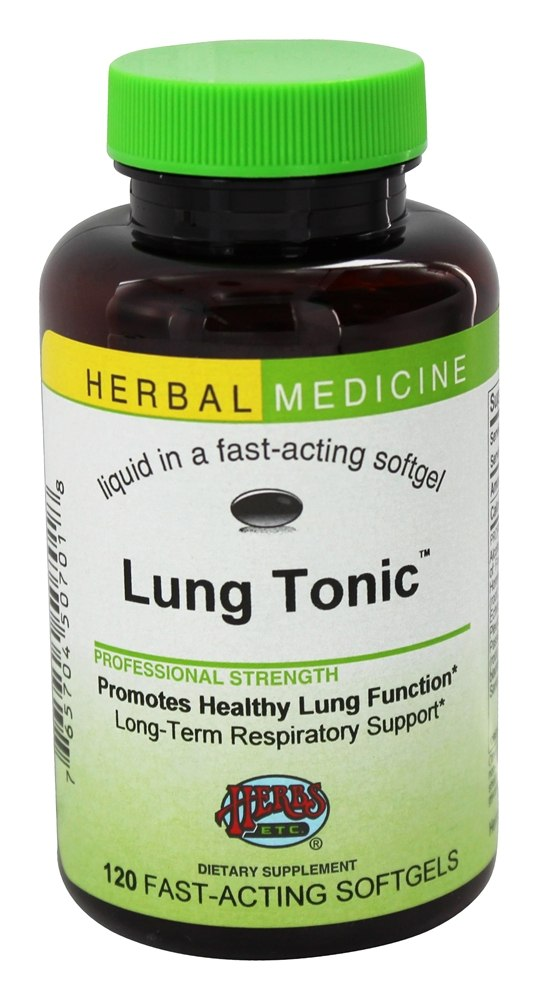 Herbs Etc - Lung Tonic Alcohol Free - 120 Softgels