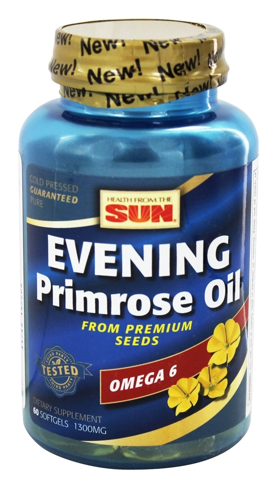 Health From The Sun - Evening Primrose Oil 1300 mg. - 60 Softgels (Formerly Evening Primrose Deluxe)