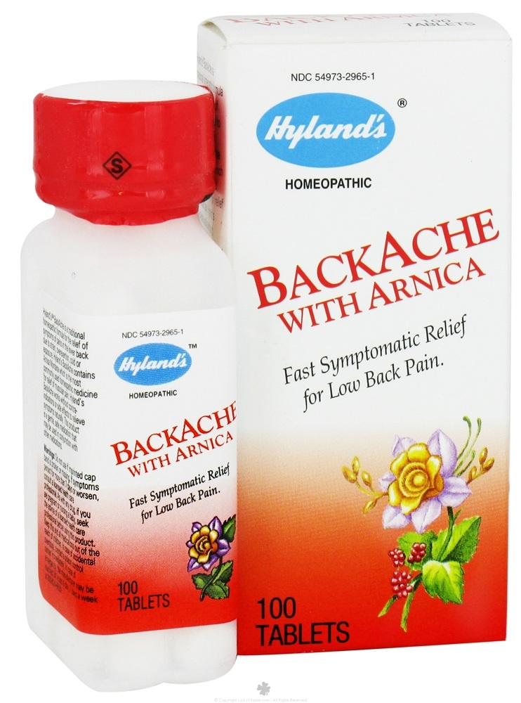 Hylands - Backache with Arnica - 100 Tablets