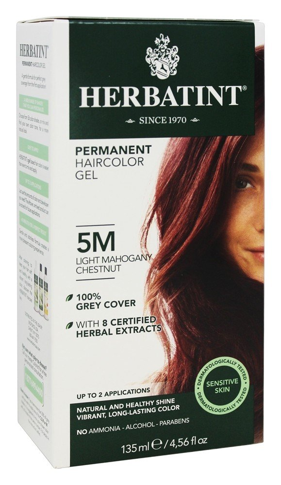 Herbatint - Herbal Haircolor Permanent Gel 5M Light Mahogany Chestnut - 4.5 oz.