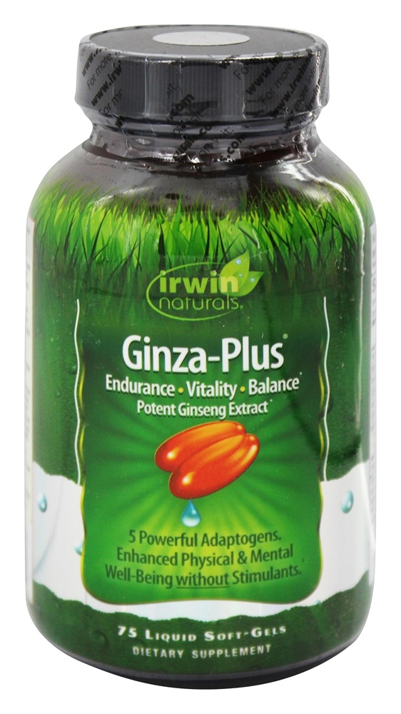 Irwin Naturals - Ginza-Plus - 75 Softgels