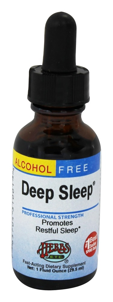 Herbs Etc - Deep Sleep Professional Strength Alcohol Free - 1 oz. Contains California Poppy
