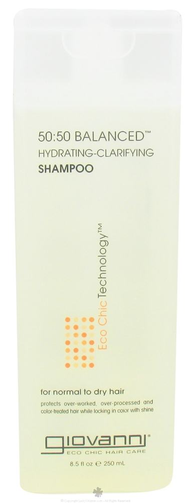 Giovanni - Shampoo 50:50 Balanced Hydrating-Clarifying For Normal To Dry Hair - 8.5 oz.