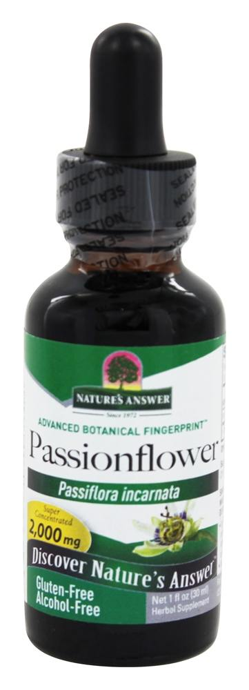 Nature's Answer - Passion Flower Herb Alcohol Free - 1 oz.