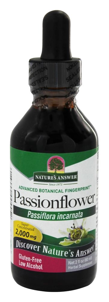 Nature's Answer - Passion Flower Herb Organic Alcohol - 2 oz.