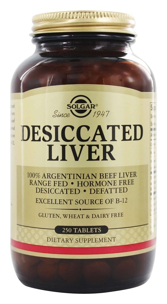 Solgar - Desiccated Liver - 250 Tablets