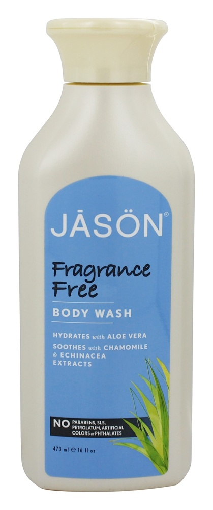 JASON Natural Products - Satin Shower Body Wash Fragrance Free - 16 oz.
