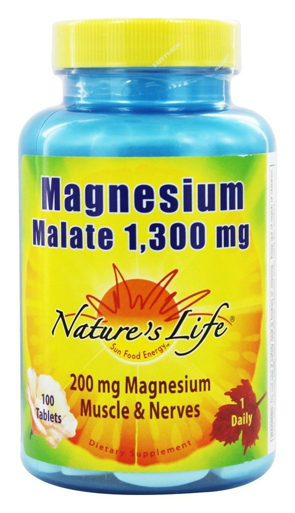 Nature's Life - Magnesium Malate 1300 mg. - 100 Tablets