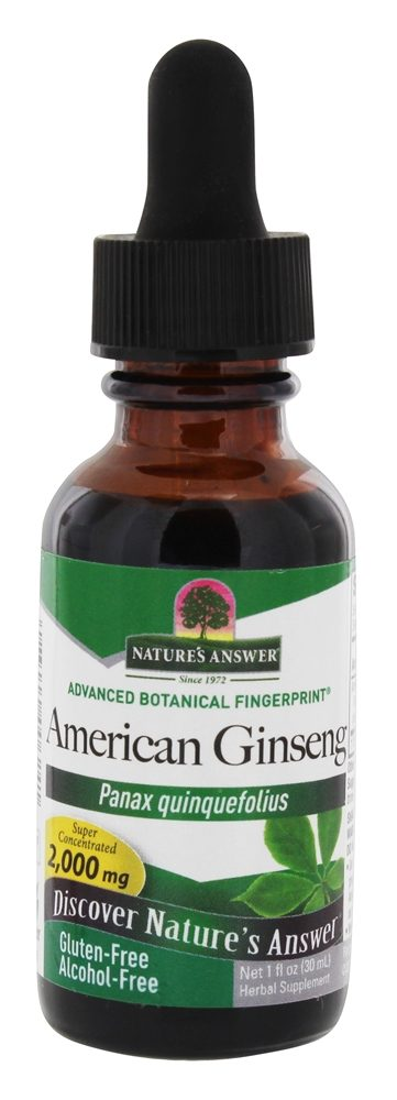 Nature's Answer - Ginseng American Root Alcohol Free - 1 oz.