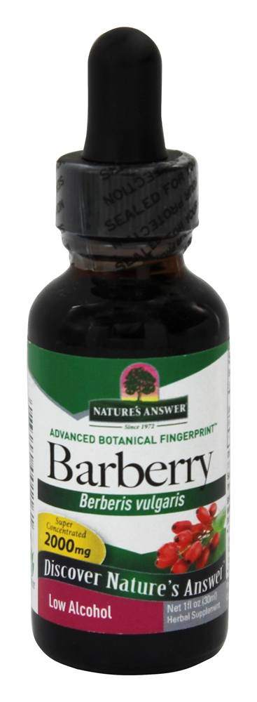 Nature's Answer - Barberry Root Organic Alcohol - 1 oz.