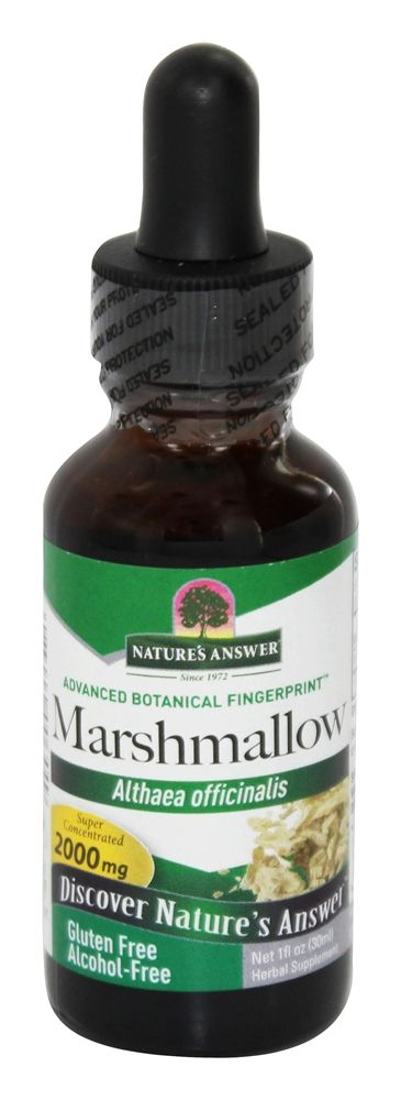 Nature's Answer - Marshmallow Root Alcohol Free - 1 oz.