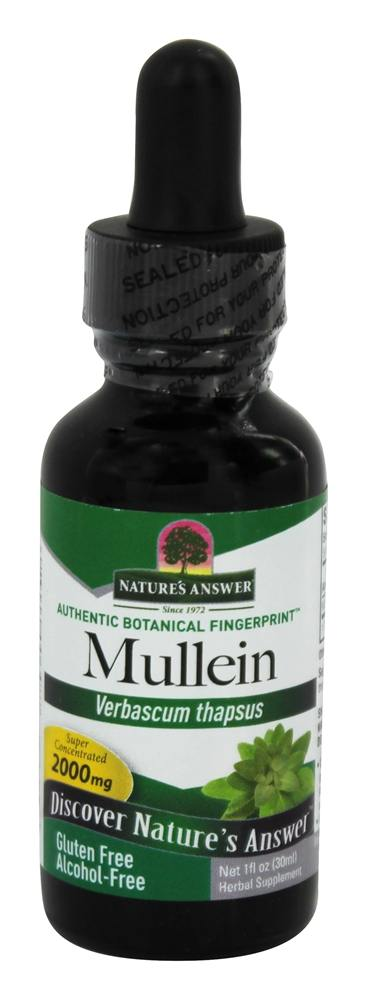 Nature's Answer - Mullein Leaf Alcohol Free - 1 oz.