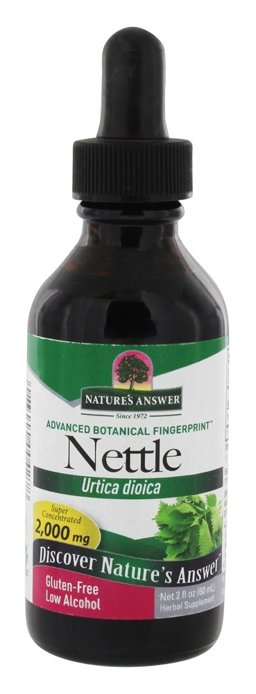 Nature's Answer - Nettle Leaf Organic Alcohol - 2 oz.