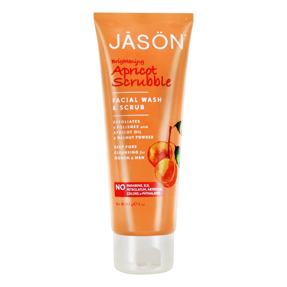 Jason Natural Products - Scrubble Facial Wash & Scrub Apricot - 4 oz.