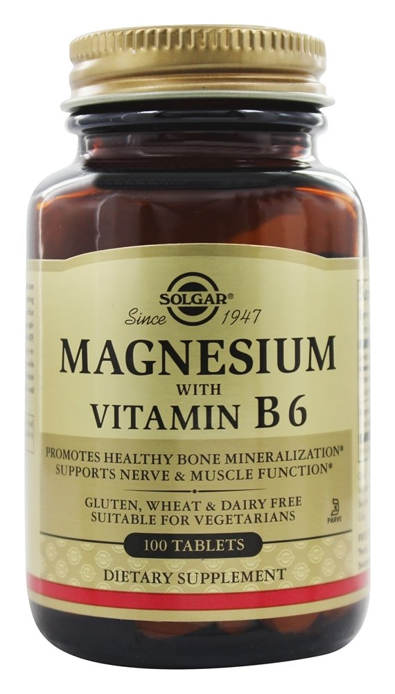 Solgar - Magnesium With Vitamin B-6 - 100 Tablets