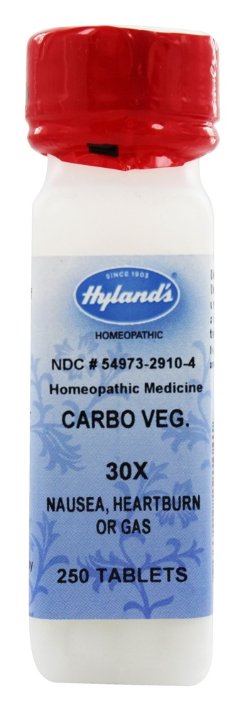 Hylands - Carbo Vegetabilis 30 X - 250 Tablets