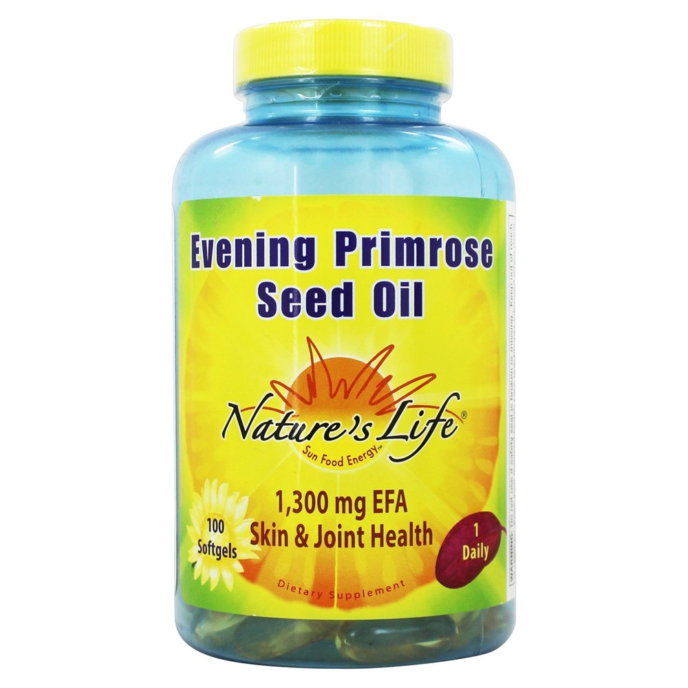 Nature's Life - Evening Primrose Seed Oil 1300 mg. - 100 Softgels
