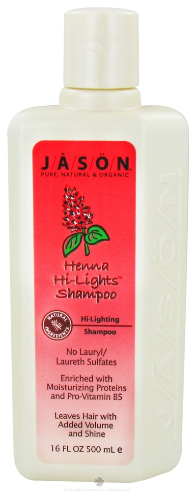 Jason Natural Products - Henna Hi-Lights Shampoo Hi-Lighting - 16 oz.