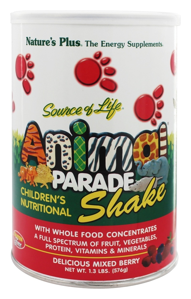 Nature's Plus - Animal Parade Shake Delicious Mixed Berry - 1.3 lbs.