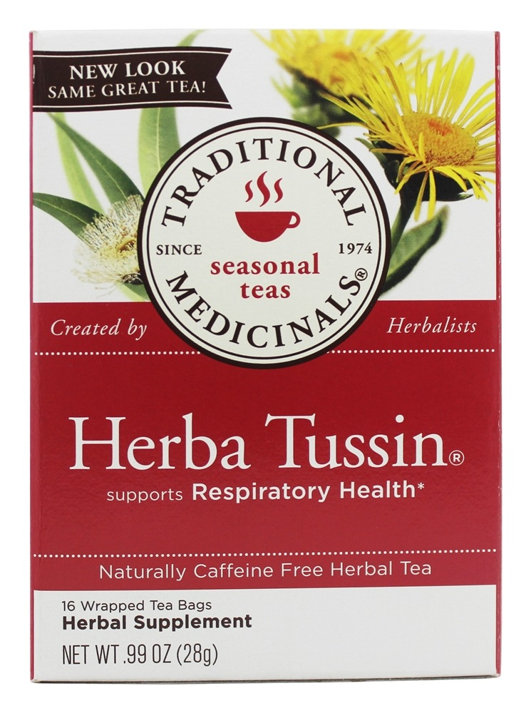 Traditional Medicinals - Herba Tussin Tea - Herbal Cough Tea - 16 Bags