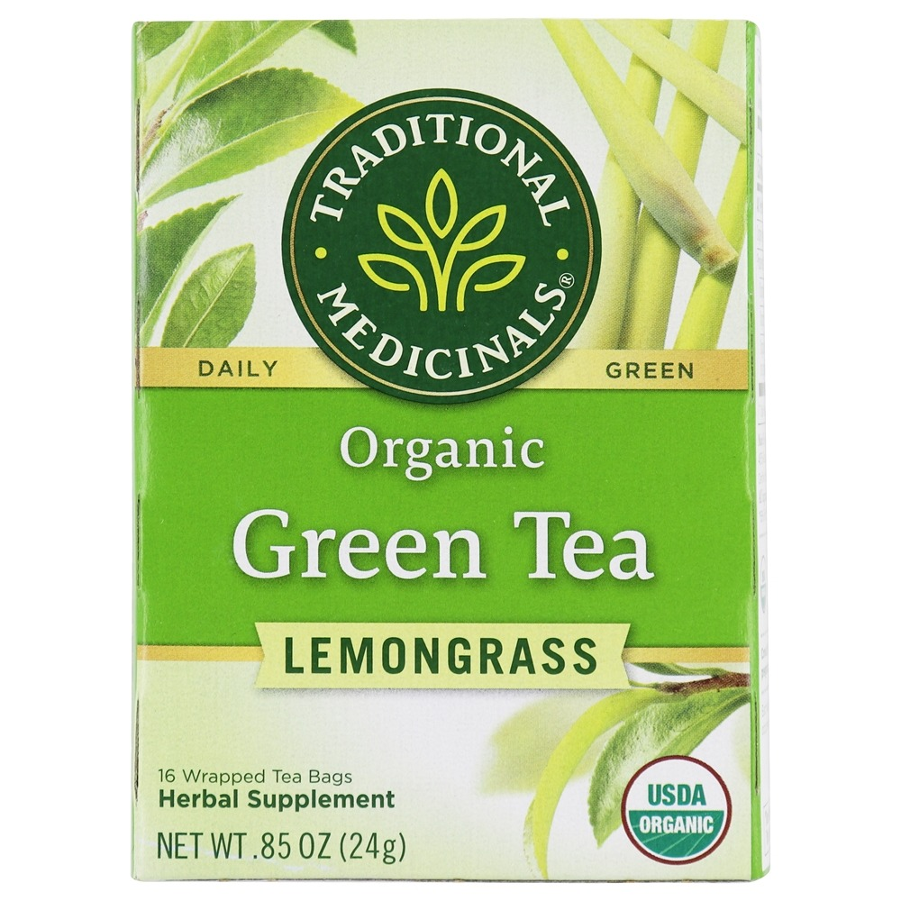 Traditional Medicinals - Organic Green Tea With Lemongrass - 16 Tea Bags