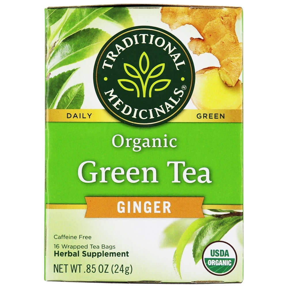Traditional Medicinals - Organic Green Tea Ginger - 16 Tea Bags