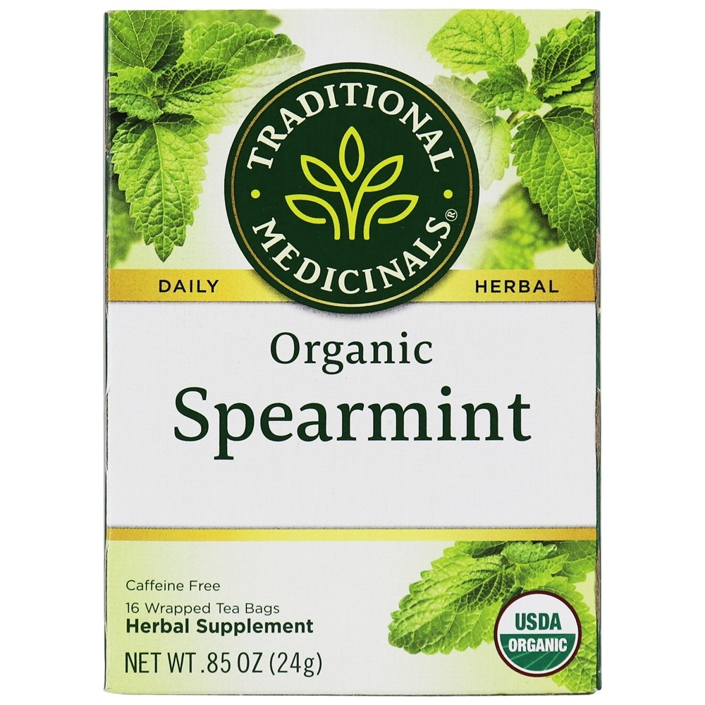 Traditional Medicinals - Organic Spearmint Tea - Aromatic and Sweet - 16 Tea Bags