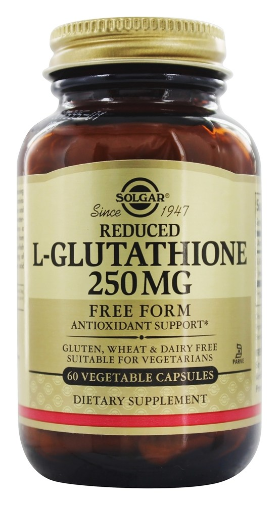 Solgar - Reduced L-Glutathione Free Form 250 mg. - 60 Vegetarian Capsules