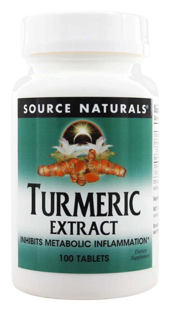 Source Naturals - Turmeric Extract - 100 Tablets