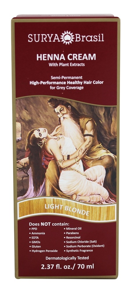 Surya Brasil - Henna Cream Hair Coloring with Organic Extracts Light Blonde - 2.37 oz.