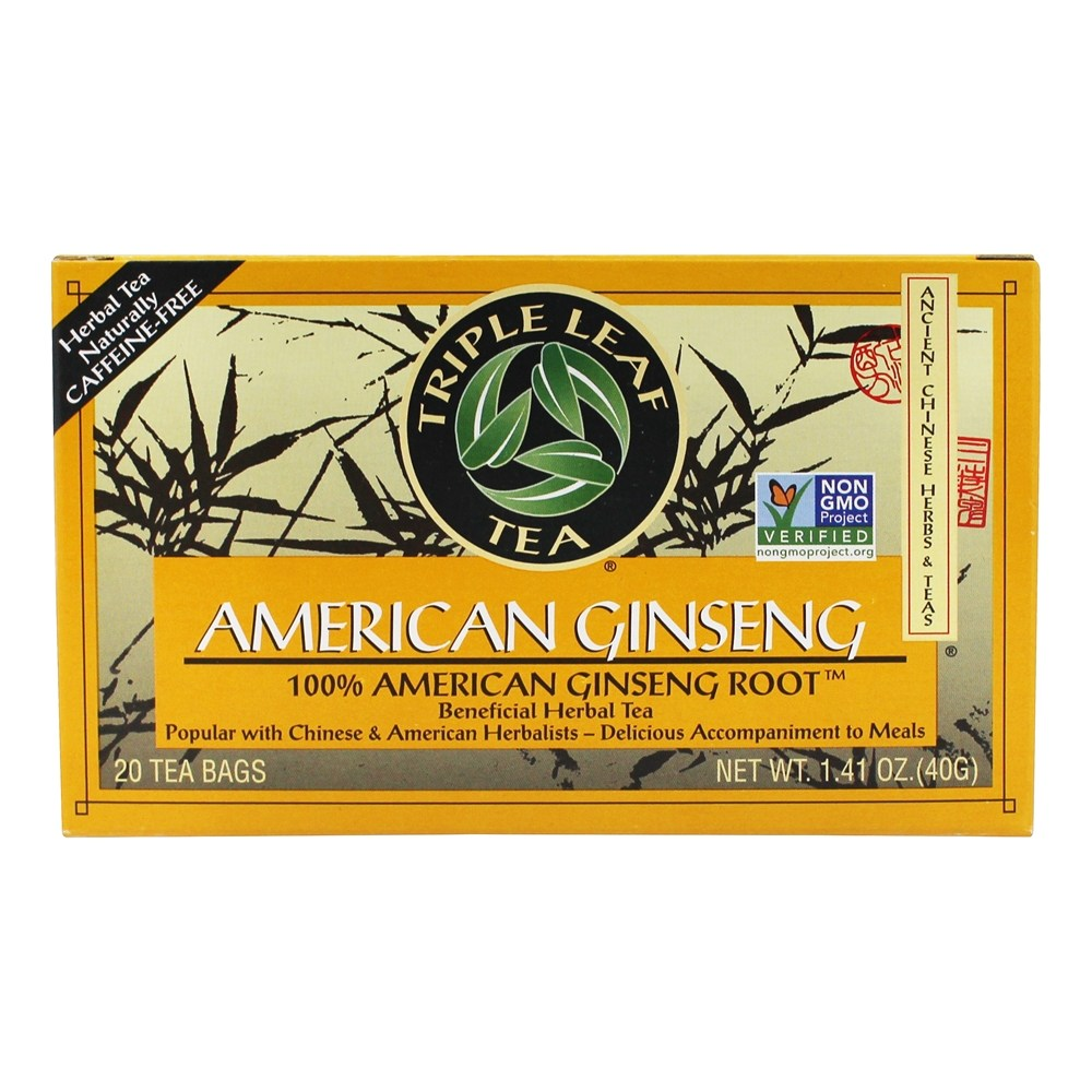 Triple Leaf Tea - American Ginseng Root Tea - 20 Tea Bags