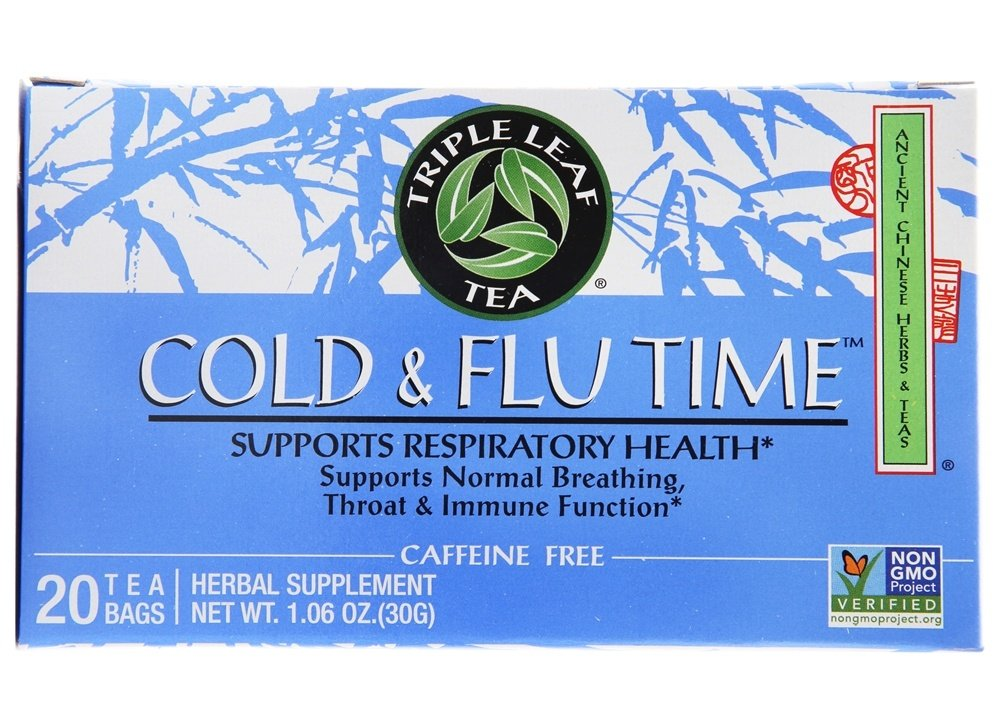 Triple Leaf Tea - Cold & Flu Time Tea - 20 Tea Bags
