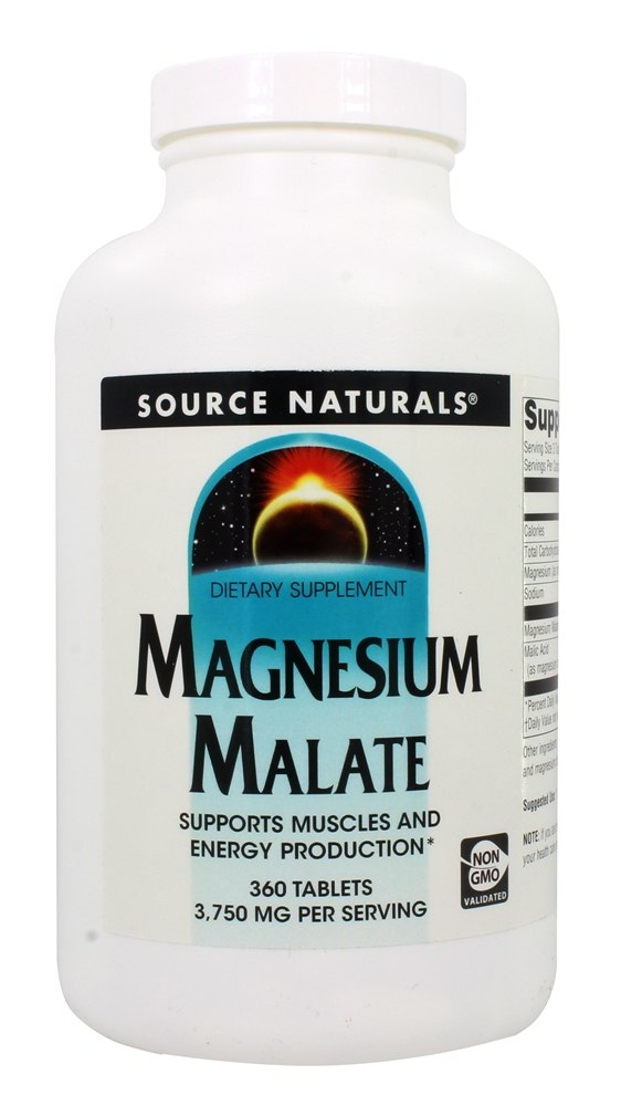 Source Naturals - Magnesium Malate 1250 mg. - 360 Tablets