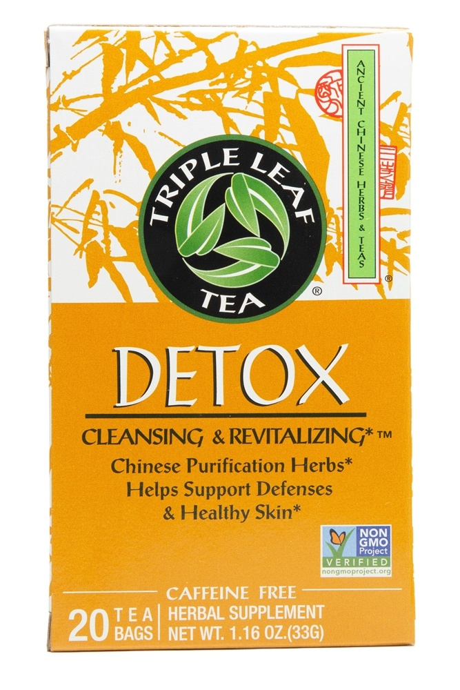Triple Leaf Tea - Detox Tea Cleansing & Revitalizing - 20 Tea Bags