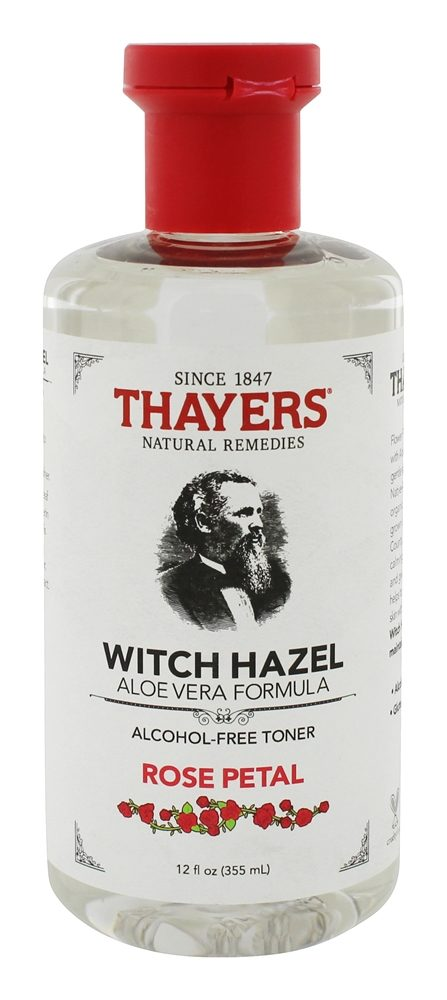 Thayers - Rose Petal Witch Hazel with Aloe Vera Alcohol-Free Toner Rose Petal - 12 oz.
