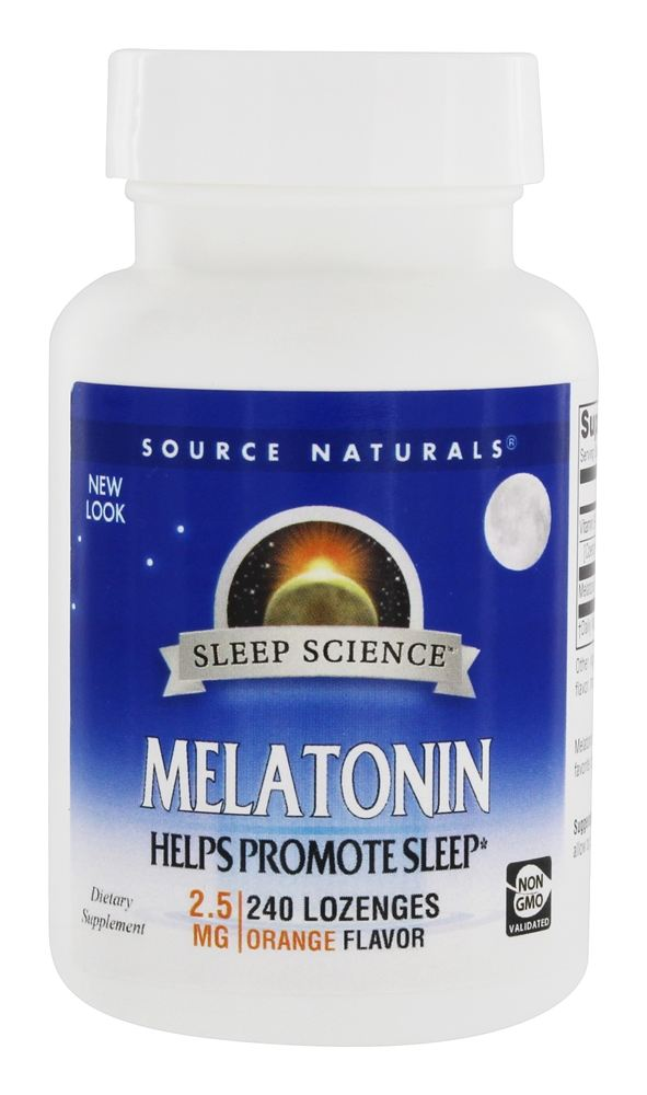 Source Naturals - Melatonin Sublingual Orange Flavor 2.5 mg. - 240 Tablets