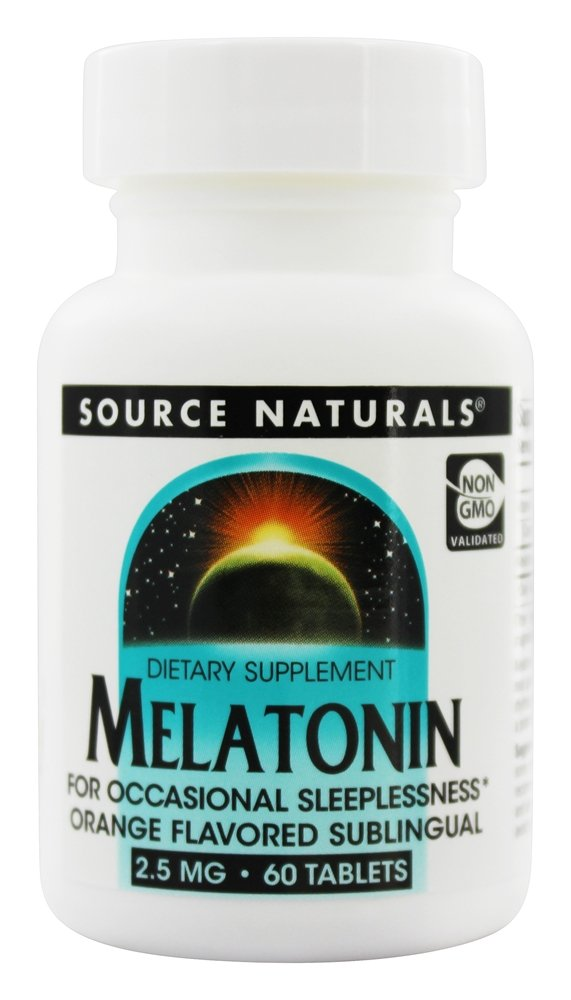 Source Naturals - Melatonin Sublingual Orange 2.5 mg. - 60 Tablets