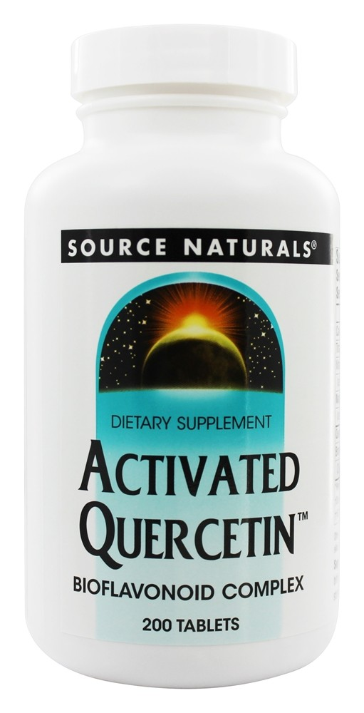 Source Naturals - Activated Quercetin Bioflavonoid Complex - 200 Tablets