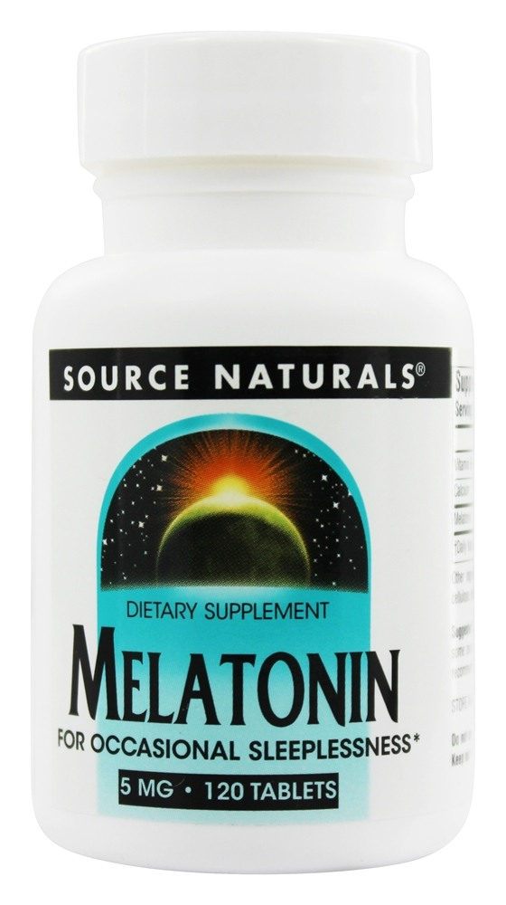 Source Naturals - Melatonin 5 mg. - 120 Tablets