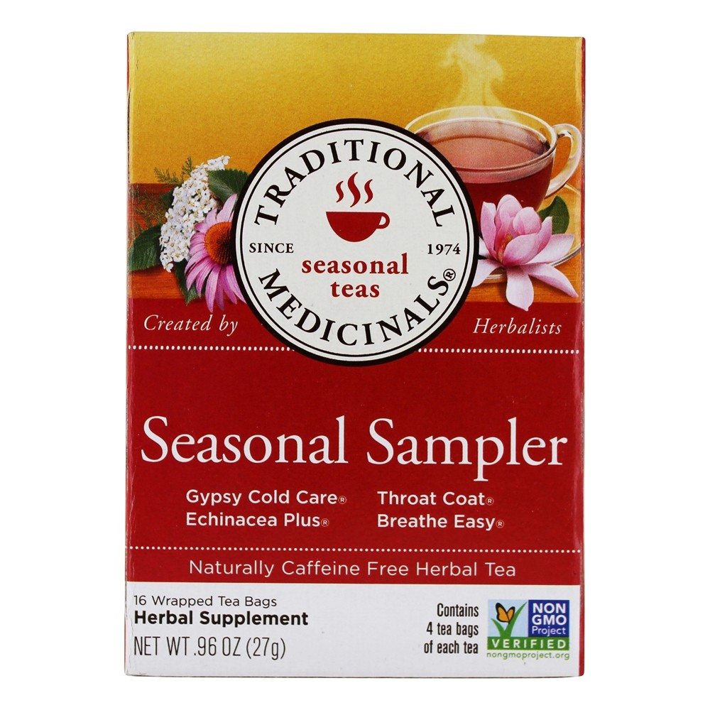 Traditional Medicinals - Seasonal Sampler Tea - 16 Tea Bags (formerly Cold Season)